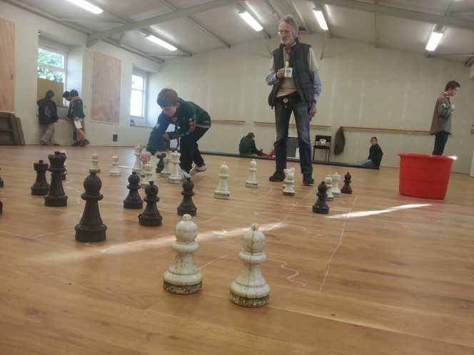 Playing chess with giant pieces