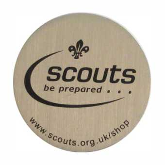 The back of our Scout Geocoins
