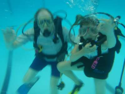 Scout leaders get to scuba dive too